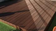 お手入れが簡単な彩木と人工芝の庭(その03)