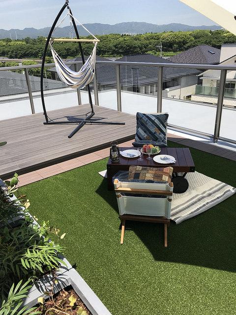 彩木を用いた屋上の庭園02