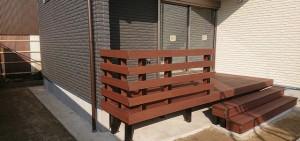 フェンスのある彩木ガーデンデッキ(実例02)