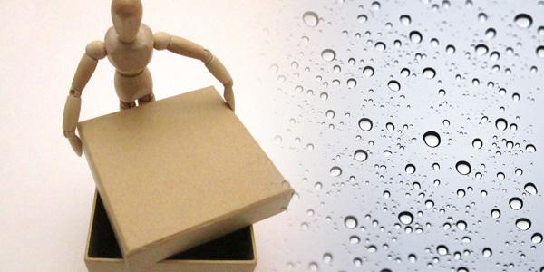 防水機能のついた収納ボックスを設置する