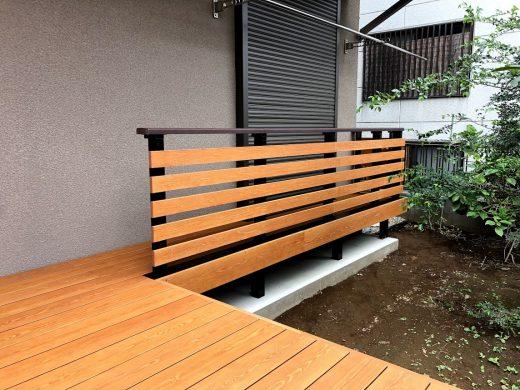 彩木デッキレールの事例01<br>デッキレールで空間を有効活用
