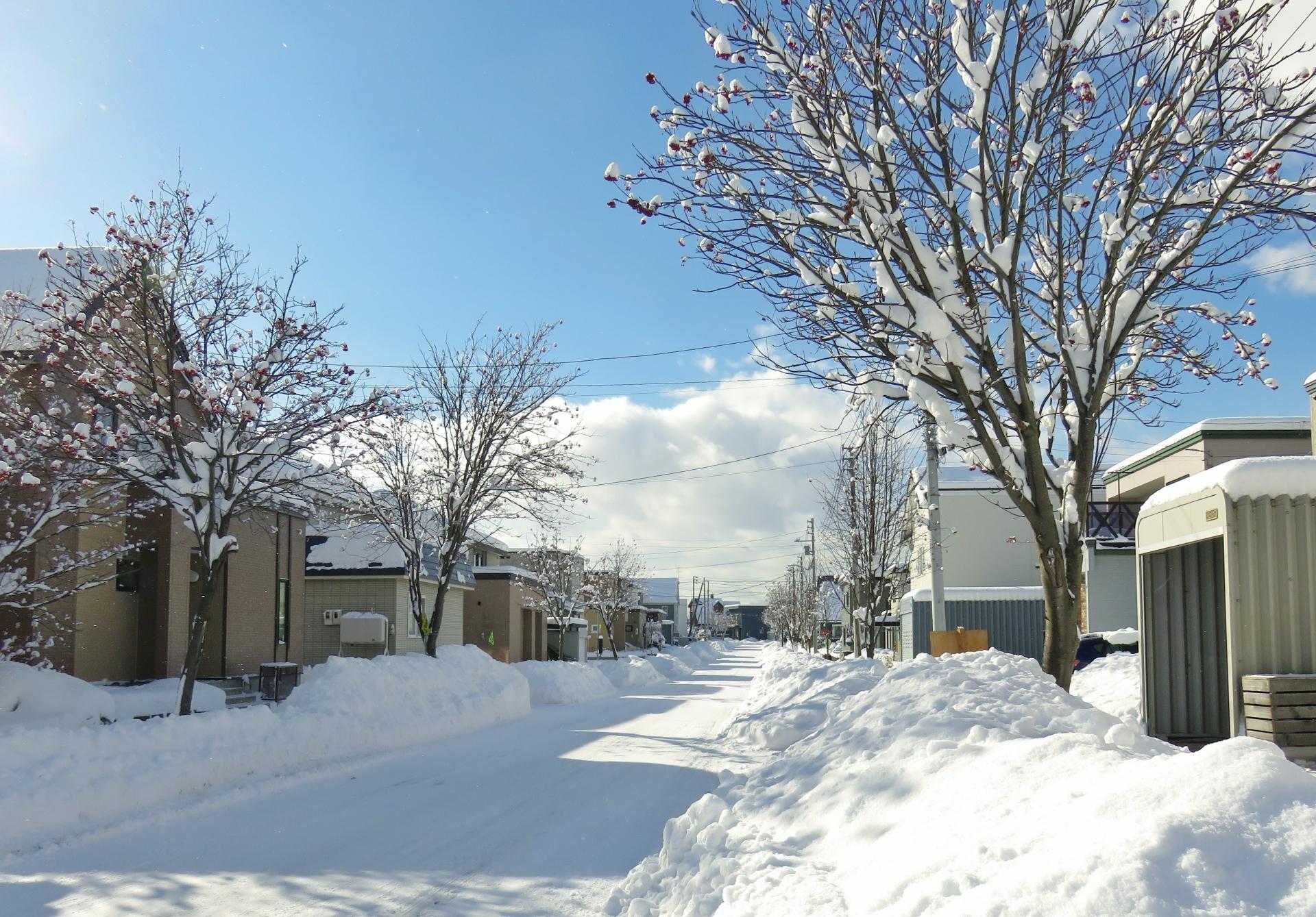 冬の雪国でも管理が簡単な彩木ウッドデッキ