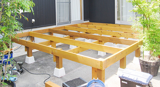DIYする際に知っておくべき「ウッドデッキの構造・部位」